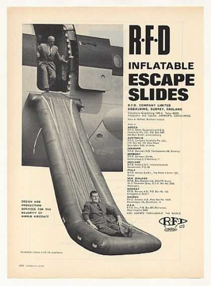 RFD Inflatable Aircraft Escape Slides Photo (1967)