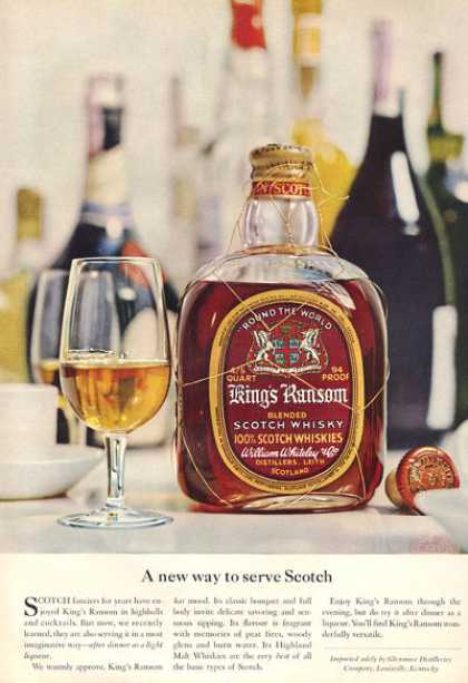 Kings Ransom Scotch Whisky Bottle (1959)