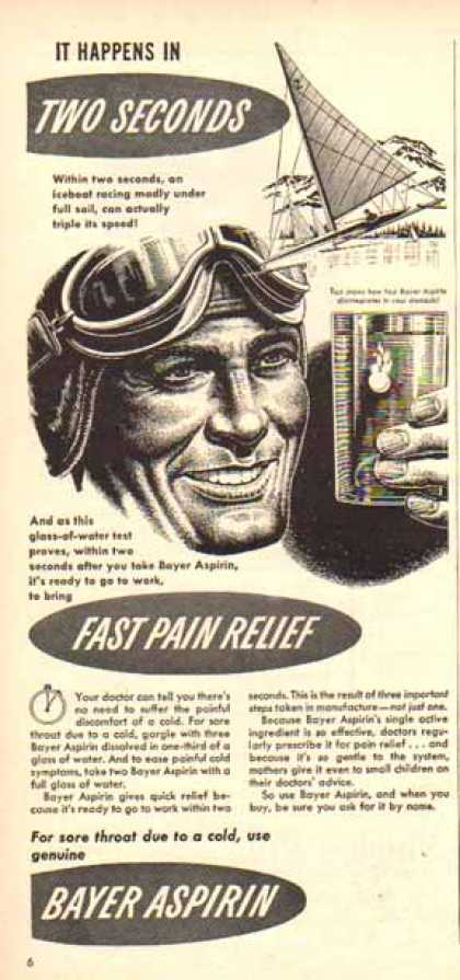 Bayer Aspirin – Iceboat Racing Relief (1948)