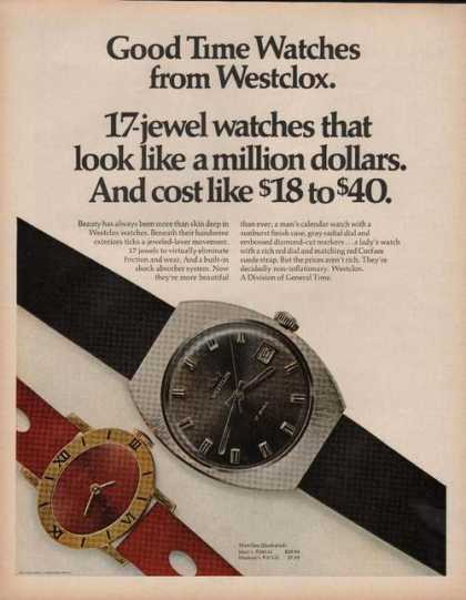 Westclox Men & Womens Watch (1969)