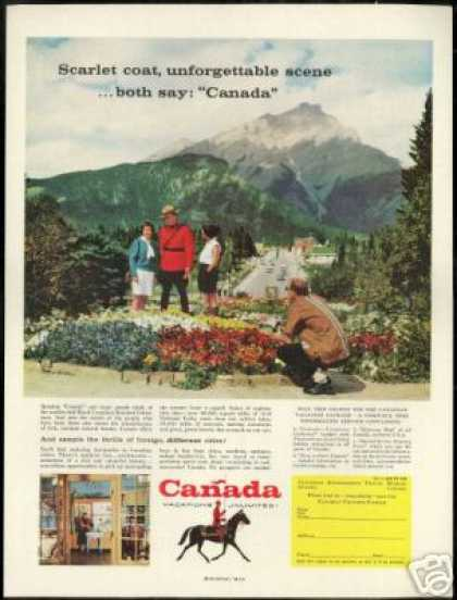 Canada RCMP Royal Canadian Mounted Police Photo (1957)