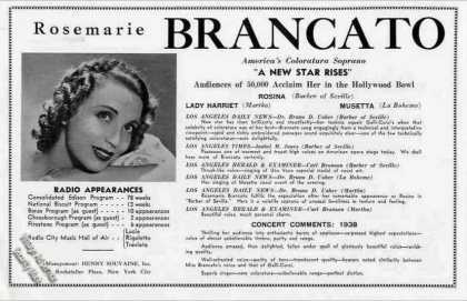 Rosemarie Brancato Photo Booking (1939)