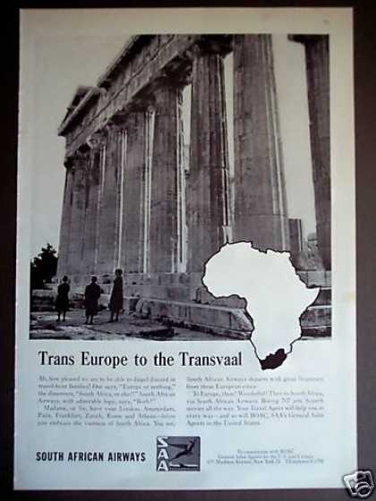 South African Airways Airline Travel (1962)
