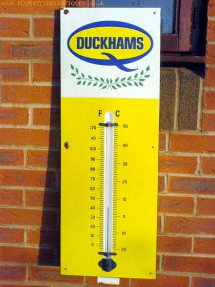 Duckhams Oil Thermometer Sign