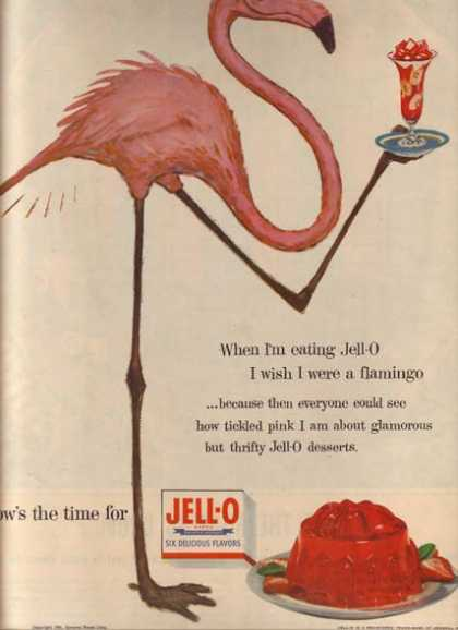 "Jello's ""When I'm eating Jell-O I wish I were a flamingo"" (1954)"