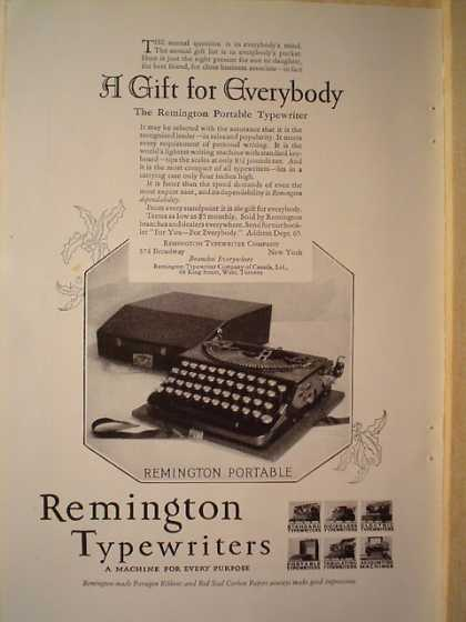 Remington Typewriters A Gift for Everybody (1926)