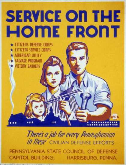 Service on the home front – There's a job for every Pennsylvanian in these civilian defense efforts. (1941)
