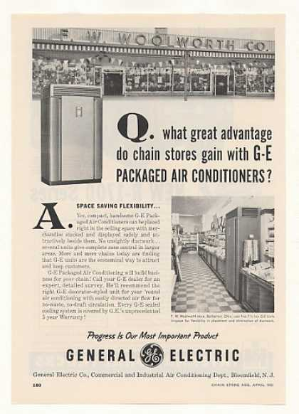 F W Woolworth Barberton OH GE Air Conditioner (1955)