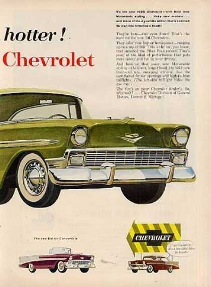 Chevrolet Cars Ad 2 Page (1956)