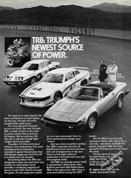 "Triumph Tr8 Photos ""Newest Source of Power"" (1980)"