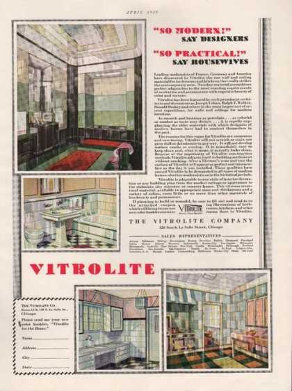Modern & Practical Vitrolite Wall Covering (1929)