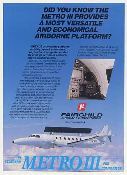 Fairchild Metro III Aircraft Photo (1987)
