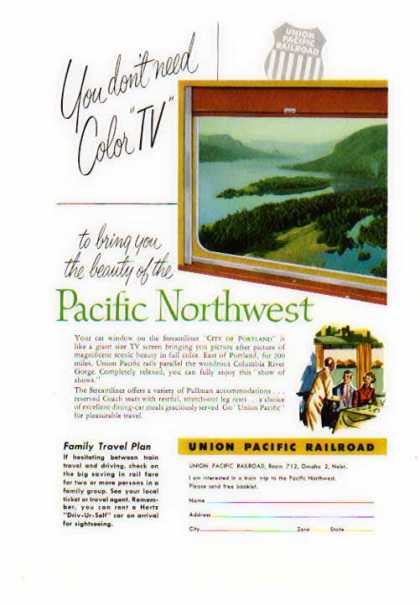 Union Pacific Railroad – Pacific Northwest Like Color T V (1954)