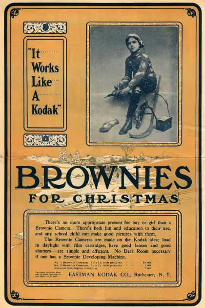 Kodak&#8217;s Brownie cameras &#8211; Brownies For Christmas (1903)