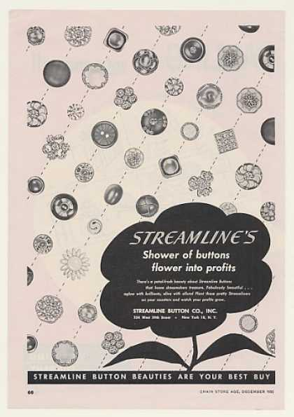 Streamline Button Co Shower of Buttons Trade (1955)
