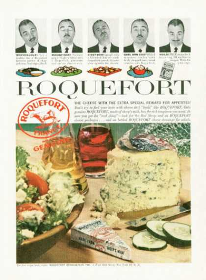 Roquefort French Cheese Photo (1959)