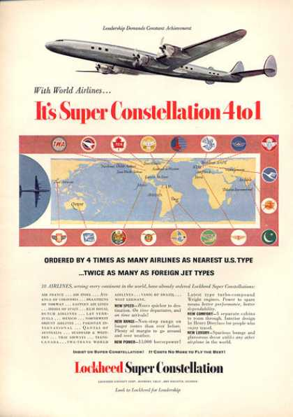 Lockheed Super Constellation Airplane (1953)
