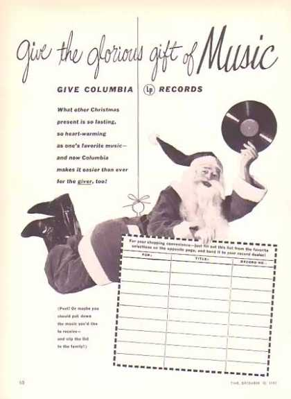 Columbia Records Christmas – Santa Flying (1951)