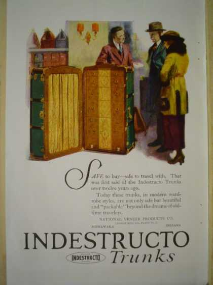 Indestructo clothing trunks AND W J Sloane A treasure house of wedding gifts (1920)