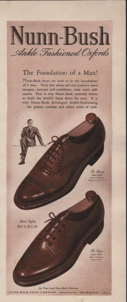 Nunn Bush Ankle Oxford Mens Shoe (1942)