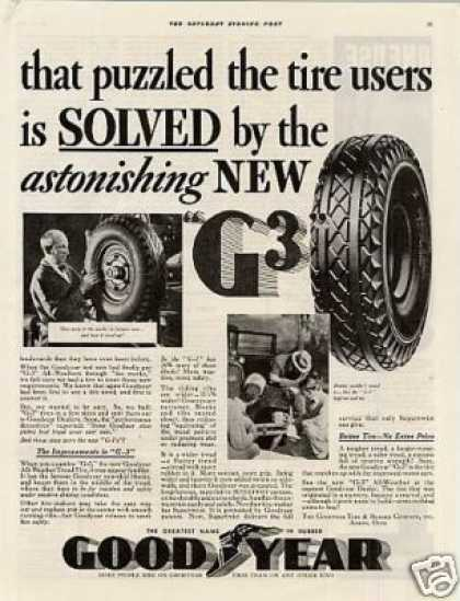 Goodyear Tire Ad 2 Page (1934)