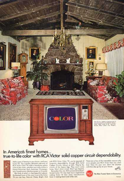 Rca Tv Television Console Hidden Valley (1966)