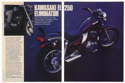 Kawasaki EL250 Eliminator Motorcycle 6-Pg Article (1987)