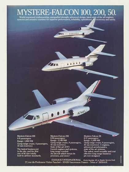 Dassault Mystere-Falcon 100 200 50 Jet Aircraft (1983)