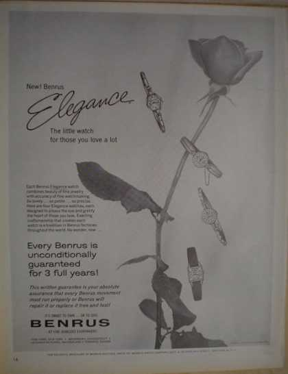 Benruss Watches Elegance Little watch love a lot (1962)