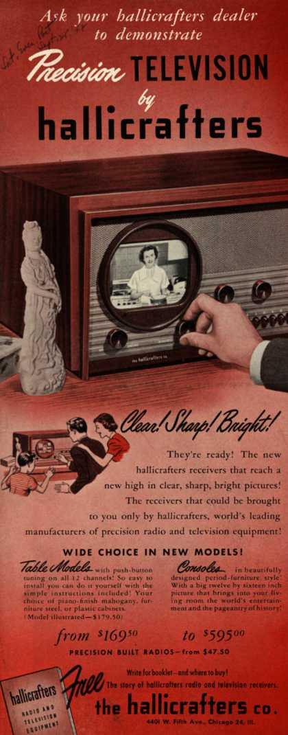 Hallicrafters Company's Precision Television – Ask your hallicrafters dealer to demonstrate Precision Television by hallicrafters (1947)