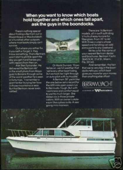 Bertram Yacht Boat 2 Photo Vintage (1973)