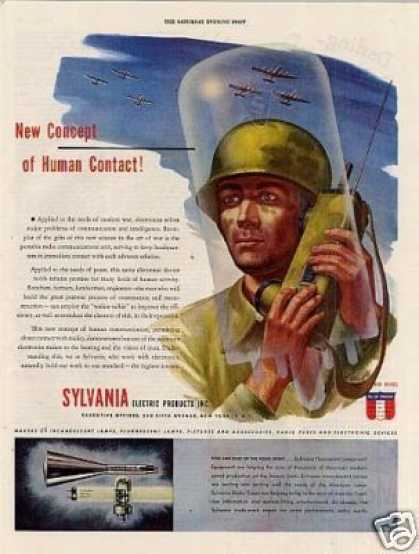 Sylvania Electric Ad Walkie-talkie (1944)