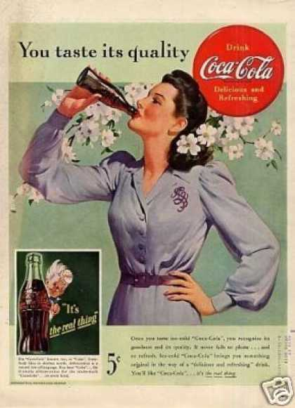 "Coca-cola Ad ""You Taste Its Quality... (1942)"