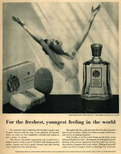 Yardley of London's Yardley's English Lavender – For the freshest, youngest feeling in the world (1954)