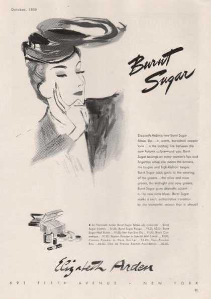 Elizabeth Arden Burnt Sugar Make Up (1939)
