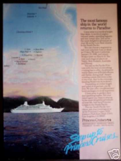 Princess Cruise Ship San Diago To South Pacific (1985)