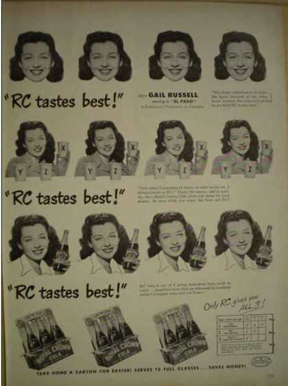 Royal Crown Cola RC Gail Russell El Paso Paramount (1949)