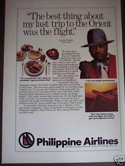 Joe Frazier To Manila On Philippine Airlines (1976)