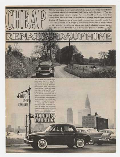 Renault Dauphine Cheap But Not Cheap (1960)