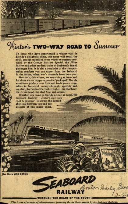 Seaboard Railroad – Winter's Two-Way Road To Summer (1945)