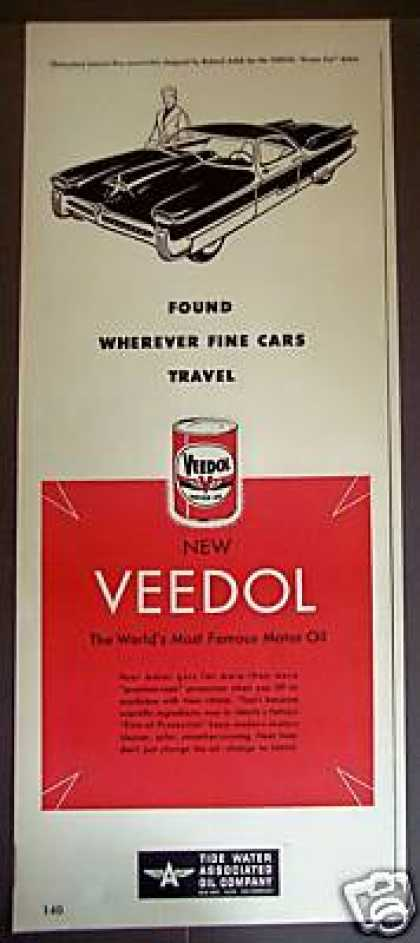 Future Dream Car Art Veedol Motor Oil (1951)