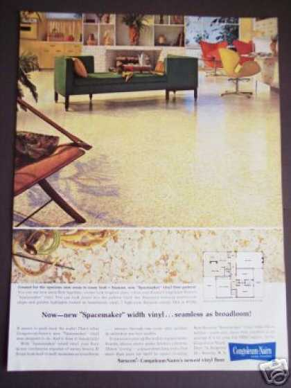 60's Home Decor Congoleum Vinyl Floor Flooring (1963)