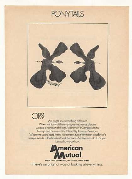 American Mutual Insurance Ponytails art (1974)
