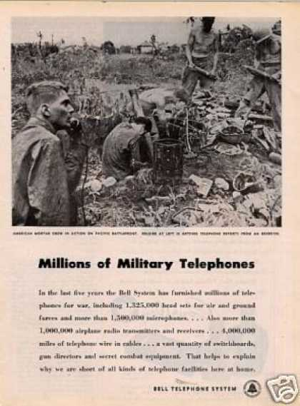Bell Telephone System Ad Military Telephones (1945)