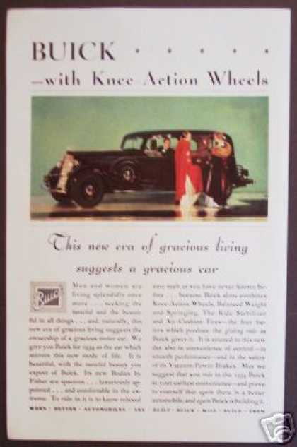 Original Buick Knee-action Wheels Deco (1934)