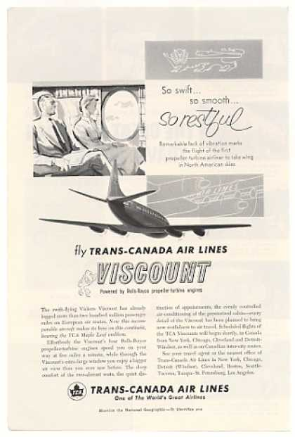 TCA Trans-Canada Airlines Viscount Airliner (1955)