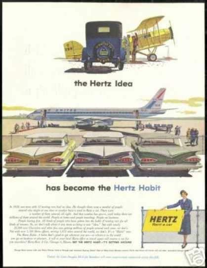 Hertz Rent a Car Chevrolet United Airlines DC8 (1959)