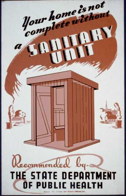 Your home is not complete without a sanitary unit, recommended by the State Department of Public Health. (1936)