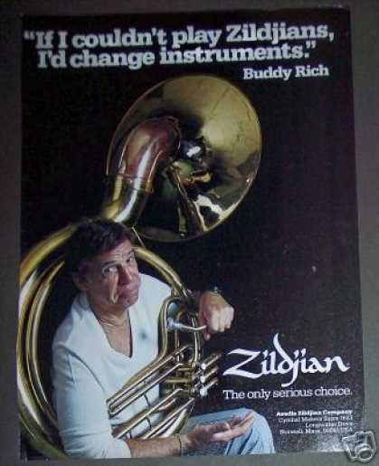 Buddy Rich & Tuba Photo Zildjian Cymbal (1982)