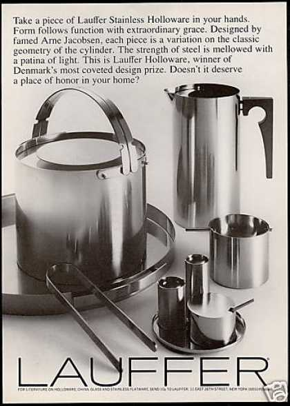Lauffer Stainless Hollowware Jacobsen Design (1969)
